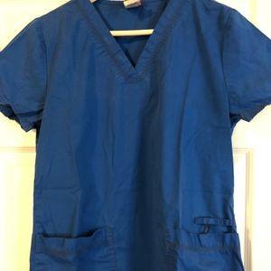 Royal blue Dickies scrub set